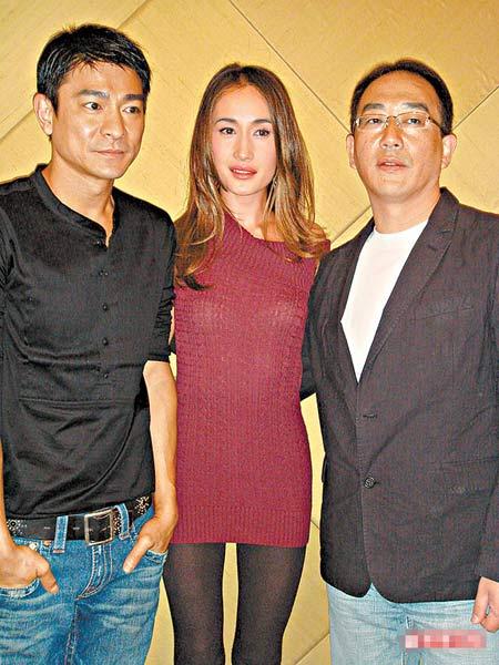 Maggie Q(右)、刘德华昨在韩国首尔宣传电影《三国之见龙卸甲》