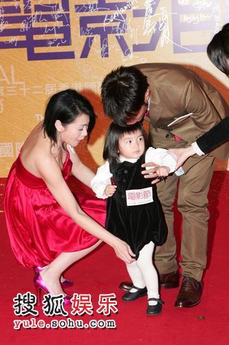 古天乐和刘若英忙活孩子