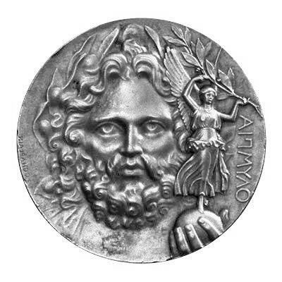 1896年第一届现代奥运会的奖牌以宙斯为主题