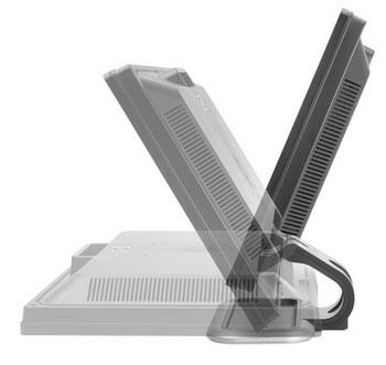HP L2208w多功能双铰链底座设计可自由调节屏幕俯仰角