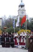 图文:北京奥运会圣火在希腊境内传递 当地群众