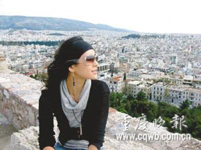 章子怡在雅典