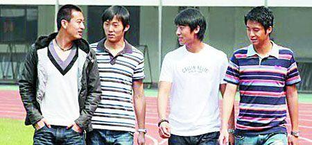深足F4(左到右):韩锋、张磊、张野、戴宪荣