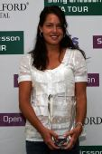 图文:2007年度WTA颁奖典礼 伊万一脸笑容