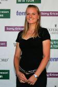 图文:2007年度WTA颁奖典礼 斯扎维面带微笑