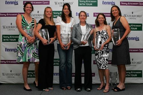 图文:2007年度WTA颁奖典礼 获奖众人合影