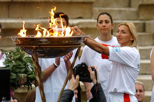拉里萨举行仪式庆典 图片来源:希腊奥委会