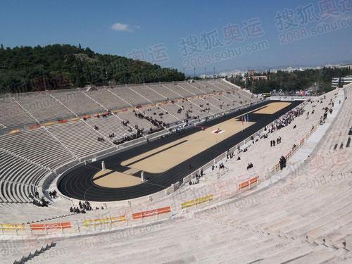 组图:圣火交接仪式现场——泛雅典体育场