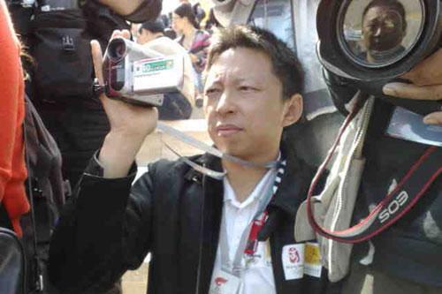 奥运官网首席记者张朝阳记录难忘瞬间