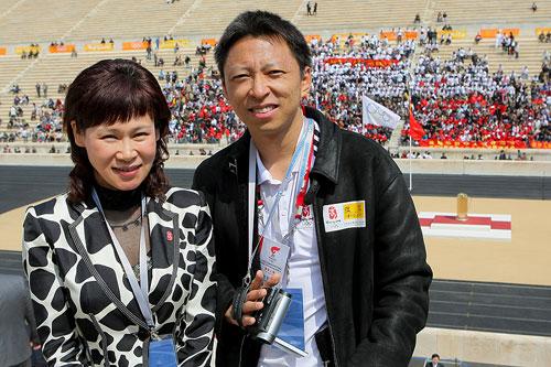 组图:奥运官网首席记者张朝阳在现场