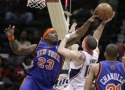 图文:[NBA]老鹰赢尼克斯 理查德森封盖