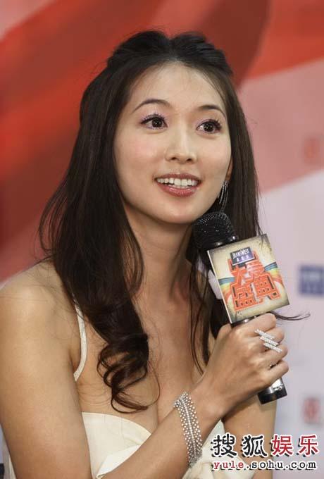 林志玲笑对媒体