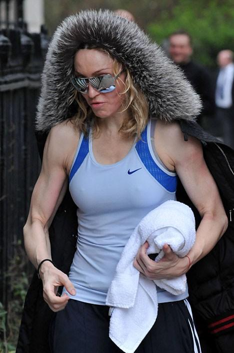 麦当娜的肌肉丝毫不输给男人