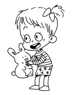 小朋友玩玩具简笔画
