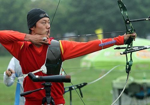 图文:射箭队奥运选拔结束 薛海峰等三男将入选