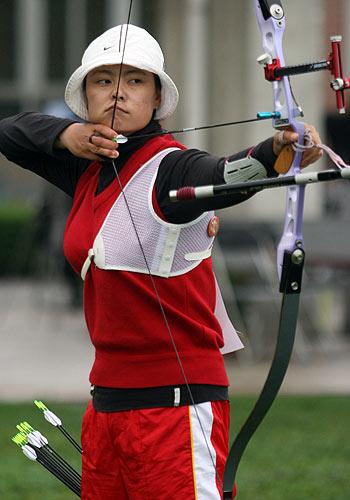 棒球:中国射箭队奥运选拔瞄准女箭手潜心结束图文为什么要保送图片