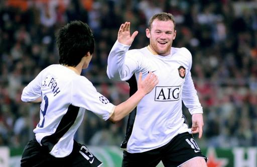 图文:[欧冠]罗马0-2曼联 鲁尼感谢朴智星