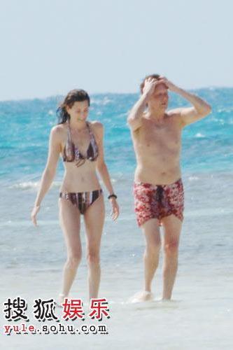 保罗·麦卡特尼与新任女友南茜·谢维尔