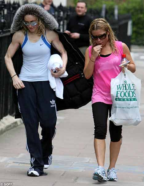 麦当娜从健身房出来手爆青筋。