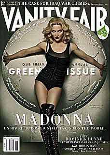 麦当娜为《浮华世界》拍摄的封面中光滑皮肤