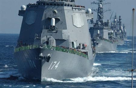 日本自卫队金刚级宙斯盾驱逐舰