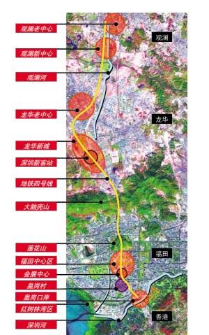 深圳中轴线以福田中心区中轴线为基础。
