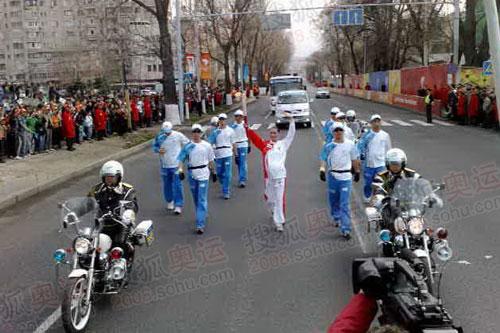 第一孕妇火炬手 参与奥运圣为传递