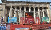 图文:阿拉木图举行城市庆典仪式 仪式现场