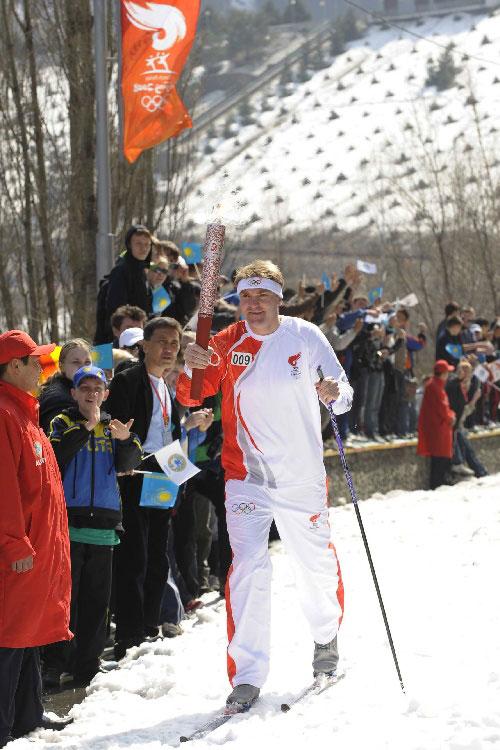 滑雪传递圣火