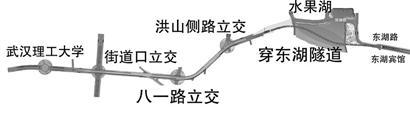 图为:二环线提速从武昌段开始 制图:肖丹