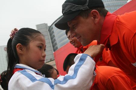 各界人士关注人文奥运公益活动和谐奥运爱心行