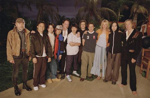 部分袁家班成员在《杀死比尔》拍摄现场