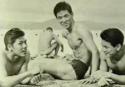年轻时的罗烈、王羽、郑雷