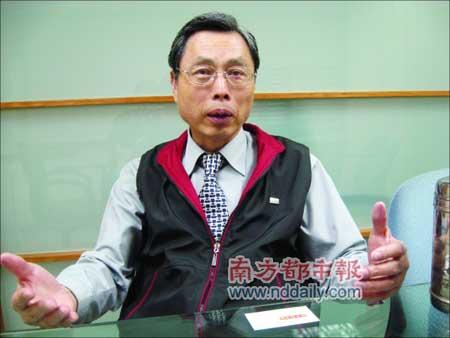 """国民党智库委员、台湾当局""""陆委会""""前副主委高孔廉接受本报记者专访。本报记者韩福东摄"""