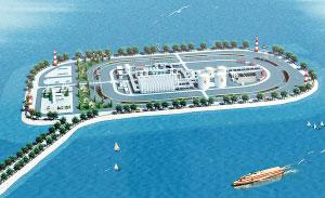 广东强调以后填海造地将采用人工岛等科学方式。图为河北唐山南堡油田1号人工岛。CFP图片