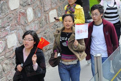 中国留学生们