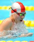 图文:女子100米蛙泳决赛结束 陈慧佳夺得冠军