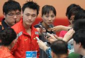 图文:男子1500米自由泳张琳夺冠 张琳帅气十足