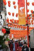 图文:奥运圣火传递6日在伦敦举行 唐人街