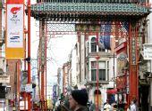图文:奥运圣火6日伦敦传递 伦敦唐人街