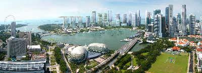 为了提高利用效率,新加坡正在建设楼高50层的摩天组屋———达士岭,全新的新加坡破壳而出。早报资料 图