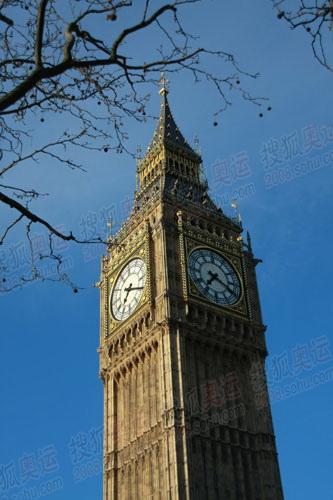 图文:奥运火炬英国站传递沿路风景 大本钟