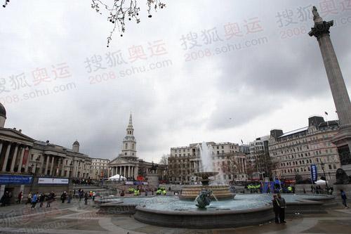 图文:圣火途径的特拉法加广场