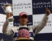 图文:[F1]巴林大奖赛正赛 库比卡获得第三名