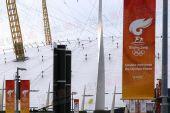 图文:奥运圣火伦敦传递结束 千年穹顶