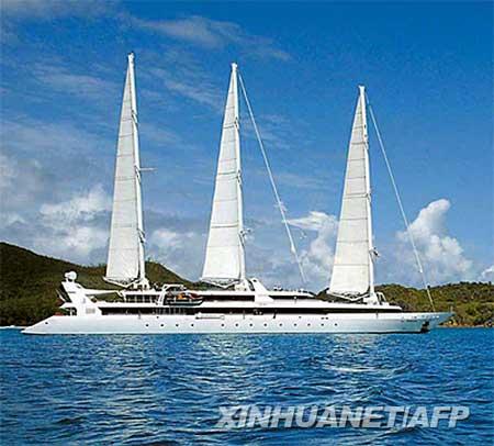 这是由法国CMA-CGM海运公司提供的遭劫持帆船的资料照片。 新华社/法新