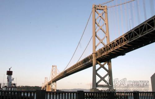 火炬接力将从海湾大桥下经过