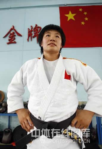 图文:女柔-78公斤级杨秀丽备战 眼望奥运金牌
