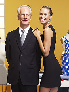 《天桥骄子》节目主持人海蒂-克鲁姆与指导顾问蒂姆