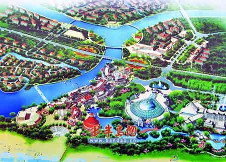 水池手绘俯视效果图
